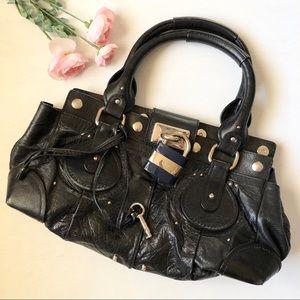 VTG Chloé Paddington Black Leather Shoulder Bag